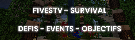 FivesTv - Survival - Serveur Minecraft