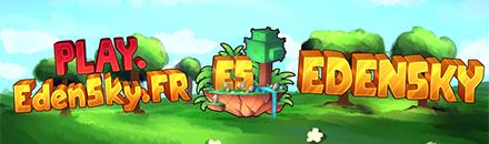 EdenSky | Survie - Skyblock 100% Farm2Win - Serveur Minecraft