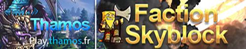 ♦ THAMOS ★ SKYBLOCK ★ FACTION ♦ - Serveur Minecraft