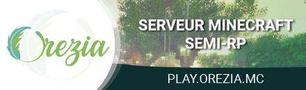 Orezia - Serveur Minecraft