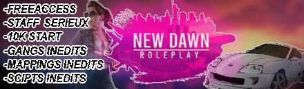 NewDawn Rp - Serveur GTA